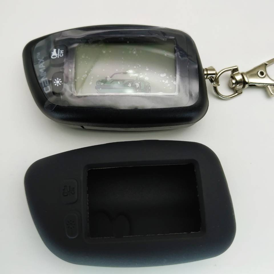 2-way CENMAX ST-5A LCD Remote Control Keychain For Security Car Alarm System CENMAX ST-5A Key Chain Fob Engine Start