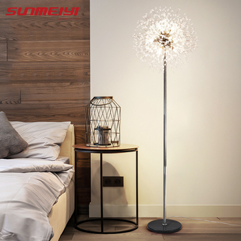 Modern Led Floor Lamps For Living room Bedroom Creative Industrial decor Crystal Light Restaurant Bar lampadaire sur pied
