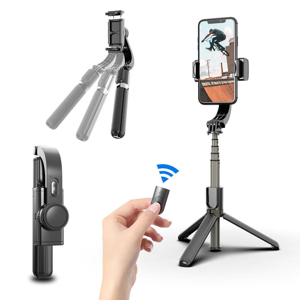 Roreta Drahtlose Bluetooth Selfie Stick Stabilisator mini Stativ erweiterbar faltbare Handheld Monopod für IOS/Android smart phone