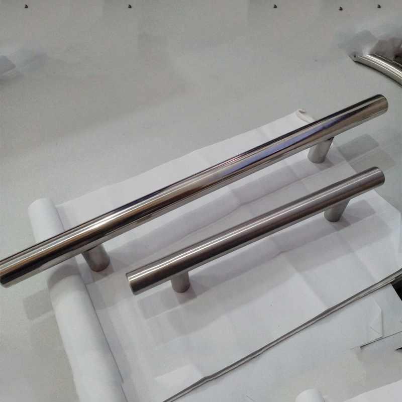 """جديد 2.5 """"-12.6"""" T بار مستقيم مقبض مقابض للخزانة 10 مللي متر المقاوم للصدأ خزنة من الصلب المطبخ مقبض الباب سحب المقابض للأثاث"""