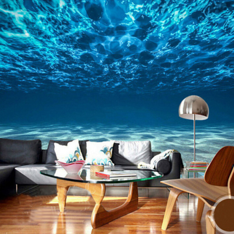 Custom Wall Mural Wallpaper Ocean Deep Sea Landscape Wall Painting Bedroom Living Room Background Photo Wallpaper For Walls 3D