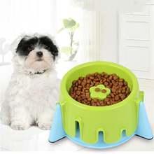 Регулируемая миска для собаки домашних животных щенков медленная