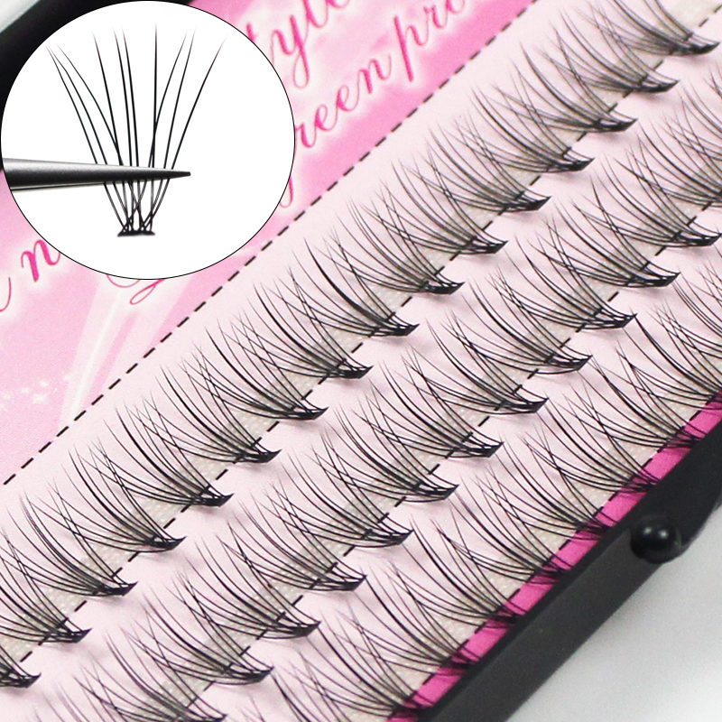 60pcs Individual Cluster Eye Lashes Professional Makeup Grafting Fake False Eyelashesfor Eyelash Extensions False Eyelashes Tabs