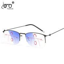 Прогрессивные очки для чтения мультифокальный компьютерный синий