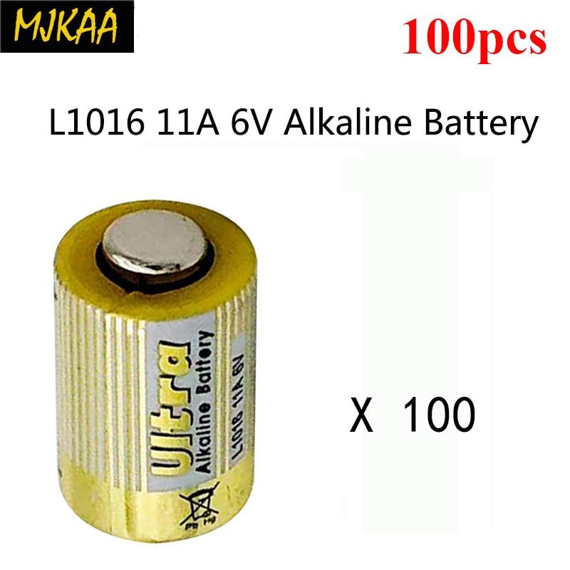 100 個 MJKAA 乾電池 L1016 11A 6 9v アルカリ電池リモートコントロールカーボート · ウォッチ玩具電卓