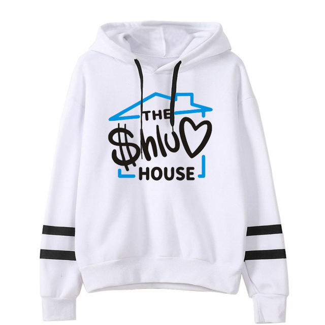 THE SHLUV HOUSE THEMED STRIPED HOODIE