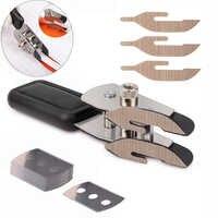 FOSHIO Teflon Double-headed Carbon Fiber Film Vinyl Cutter Knife Slitter +10pcs Blade Wallpaper Car Stickers Wrap Cutting Tool