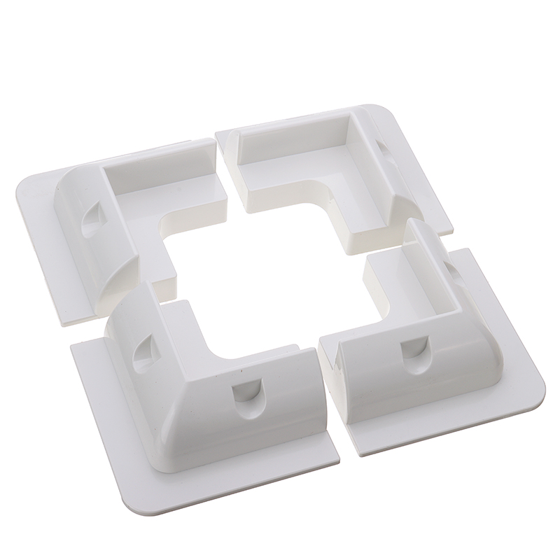 4x branco painel solar fixação kit suporte