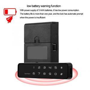 Image 4 - cabinet lock Digital Electronic 12 Button Lock Keyless Password Security Lock for Drawers Cabinets