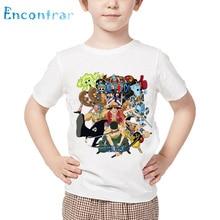 Tops Boys T-Shirt Anime One-Piece Luffy Kids Print Funny Girls Cartoon Summer And Chopper-Design