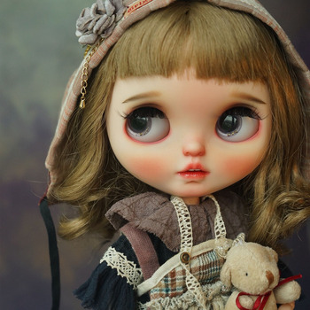 Blyth Doll NBL 1/6 BJD Customized Frosted Face,big eyes Fashion girl makeup Ball Jointed Doll Children's fun series 4