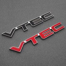 Autocollant 3D en métal emblème VTEC, Badge pour porte arrière de voiture pour Honda f4 hrv crv 2007 cb400sf nc750x hornet dio af 34