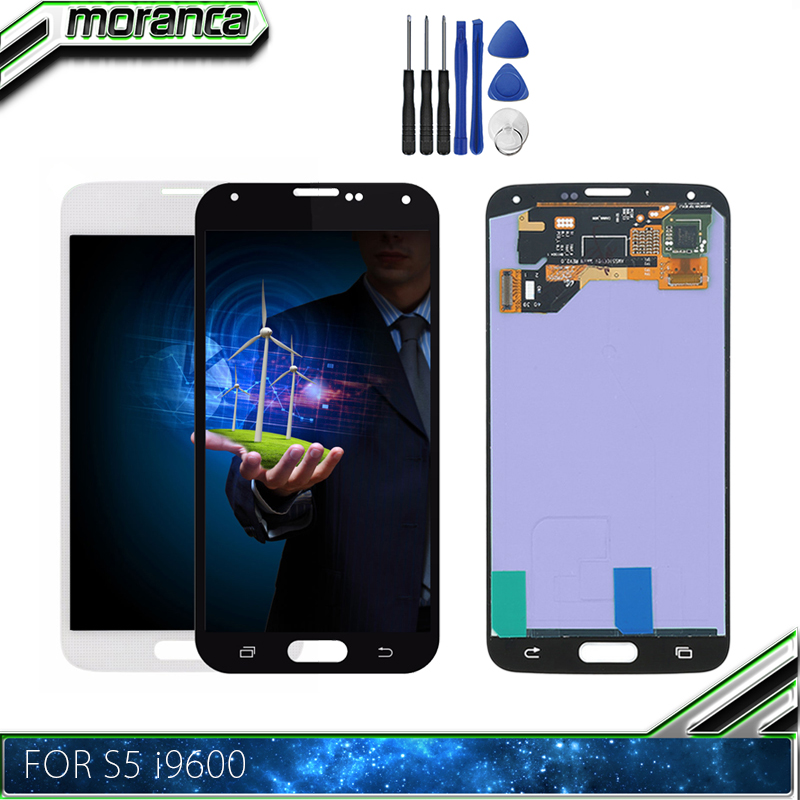 100% Tested LCD Replacement For Samsung <font><b>Galaxy</b></font> <font><b>S5</b></font> i9600 <font><b>G900</b></font> G900F G900A Phone LCDs <font><b>Display</b></font> with Touch Screen Digitizer Assembly image