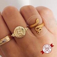Регулируемое кольцо из стерлингового серебра 925 пробы для женщин