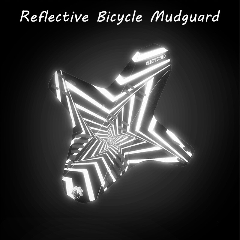 ENLEE 2pcs Reflective Mudguard MTB Bicycle Front Rear Mudguard AM Enduro DH Cycling 26 27.5 29 Bike Fenders Bicycle Accessories