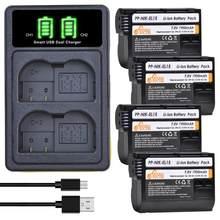 4Pc EN-EL15 En EL15 EL15a Batterij + Type-C Lader Kits Voor Nikon D600 D610 D600E D800 D800E d810 D7000 D7100 D7200 D750 D500 V1