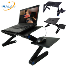 Adjustable Aluminum Laptop Stand For Bed Ergonomic Portable Lapdesk Tray PC Table Stand Notebook Table Desk Stand With Mouse Pad