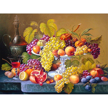 Набор для вышивки крестиком 11CT, набор для рукоделия с принтом фруктов, натюрморт, холст, хлопковая нить, домашняя распродажа