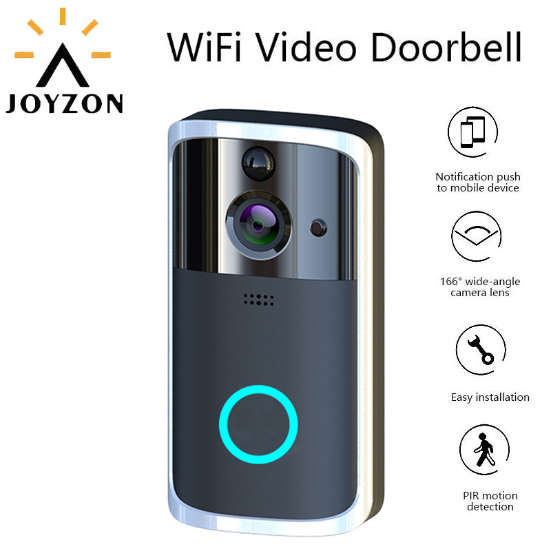 JOYZON 720p Smart WiFi Video Doorbell Camera Visual Intercom With Chime Night Vision IP Door Bell Wireless Home Security Camera