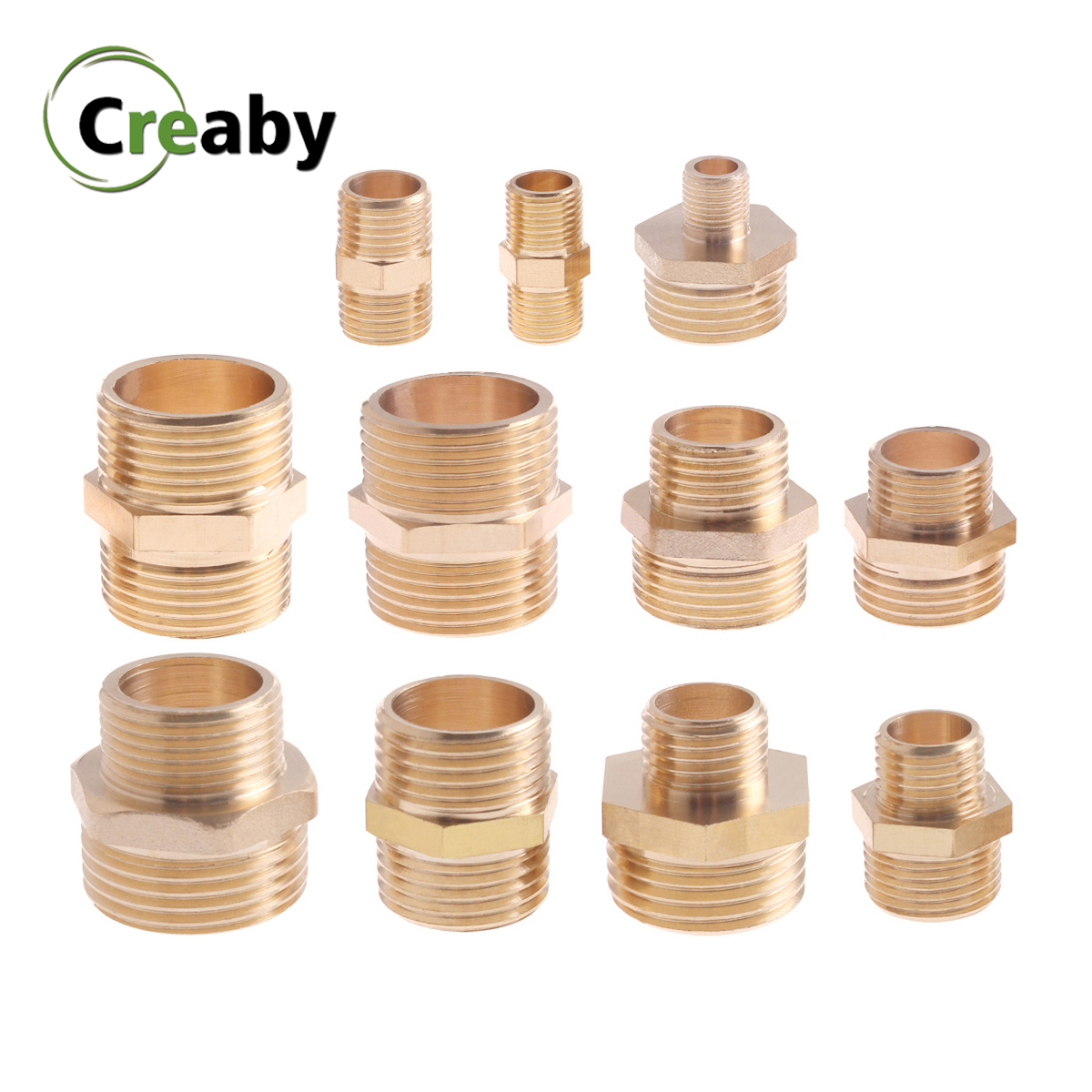 Brass Pipe Hex Nipple Fitting 1/8