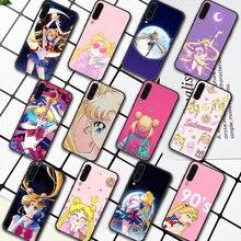 Sailor Moon Anime Phone Case For Samsung Galaxy A7 9 8 10 20 20e 21 S 30 30S 31 41 50 50S 51 70 71 91 black Back Painting Funda