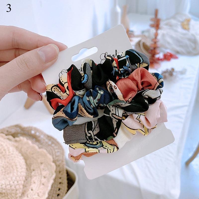 1 комплект резинки для волос кольцо для волос карамельного цвета Веревка для волос осень-зима женский хвостик аксессуары для волос 4-6 шт. ободки для девочек Подарки - Color: 0003