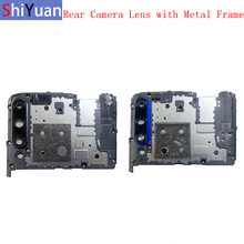 Rear Back Camera Lens Glass with Metal Frame Holder For Huawei Honor 9X 9X Pro Replacement Repair Spare Parts