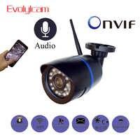 1080P HD 2MP WiFi Audio IP Kamera Wireless 720P Freien Kugel CCTV Kamera Überwachung Sicherheit Wasserdichte Nachtsicht kamera