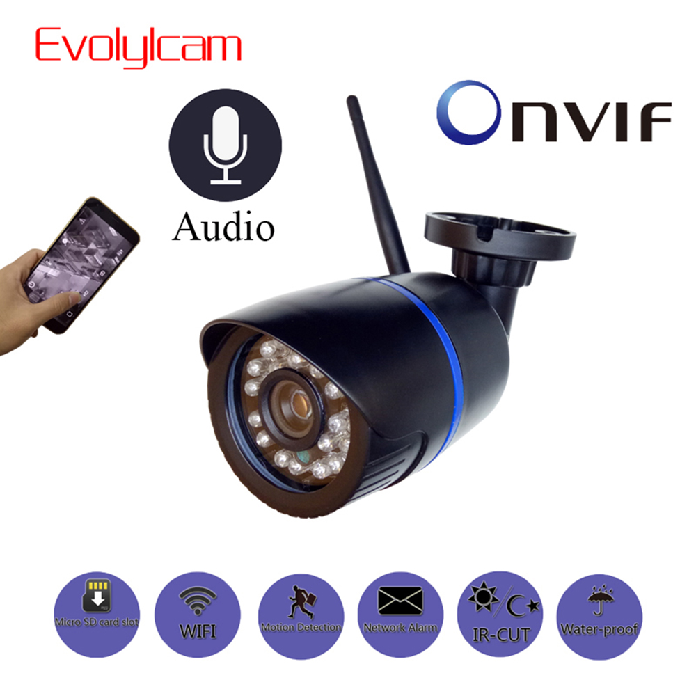 1080P HD 2MP WiFi Audio IP Camera Wireless 720P Outdoor Bullet CCTV Camera Surveillance Security Waterproof Night Vision Camera