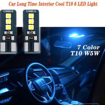 2PCS For Suzuki Swift Bmw F10 X5 E70 E30 F20 E34 G30 E92 E91 M Volvo XC90 S60 Car Long Time Interior Cool T10 6 LED Light image