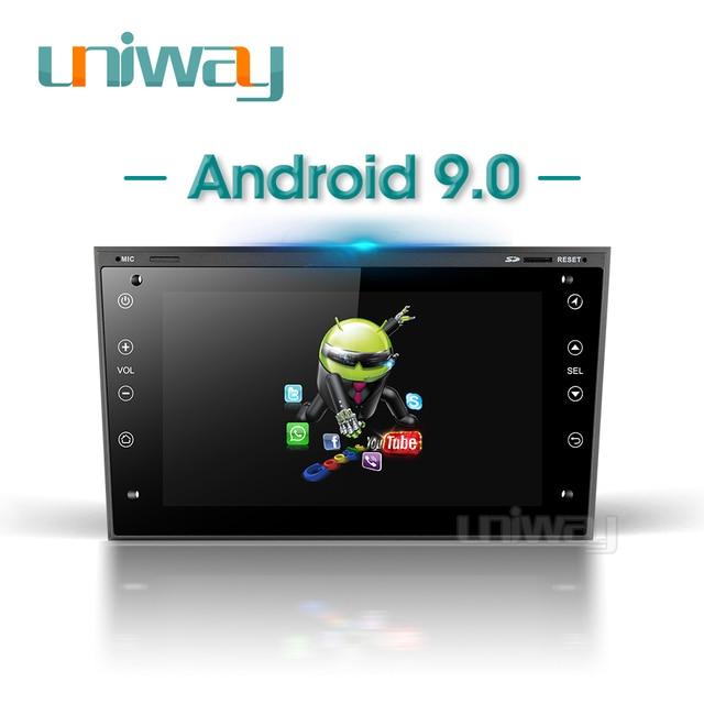 Uniway aob771 2g + 32g android 9.0 carro dvd gps para opel meriva antara zafira veda agila corsa vectra astra h 2006 2007 2008 2009