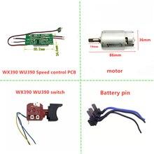 Schalter für WORX WU390 WX390 WX178 20V H3 Bohrer Control board Stecker motor Pendel welle Spindel Batterie pin