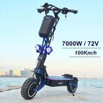 SpeedBike-patinete eléctrico, Scooter todoterreno de 11 pulgadas, con Motor Dual, 72V, 7000W y buen diseño