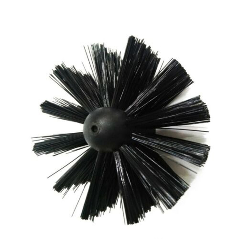 12Ft Chimney Cleaner Brush Useful Cleaning Rotary Sweep System Fireplace Kit Rod