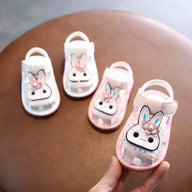 Summer Baby Sandals Girls Toddler Shoes Kids Cute Non-slip Sandals Flower Soft Bottom Infant Shoes 0-1 Years Old Princess Shoes
