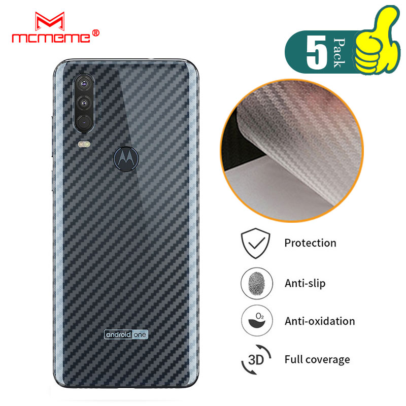 For Motorola One Action 3D Carbon Fiber Protective Back Film For Motorola Moto One Zoom Pro Back Screen Protector Film Sticker