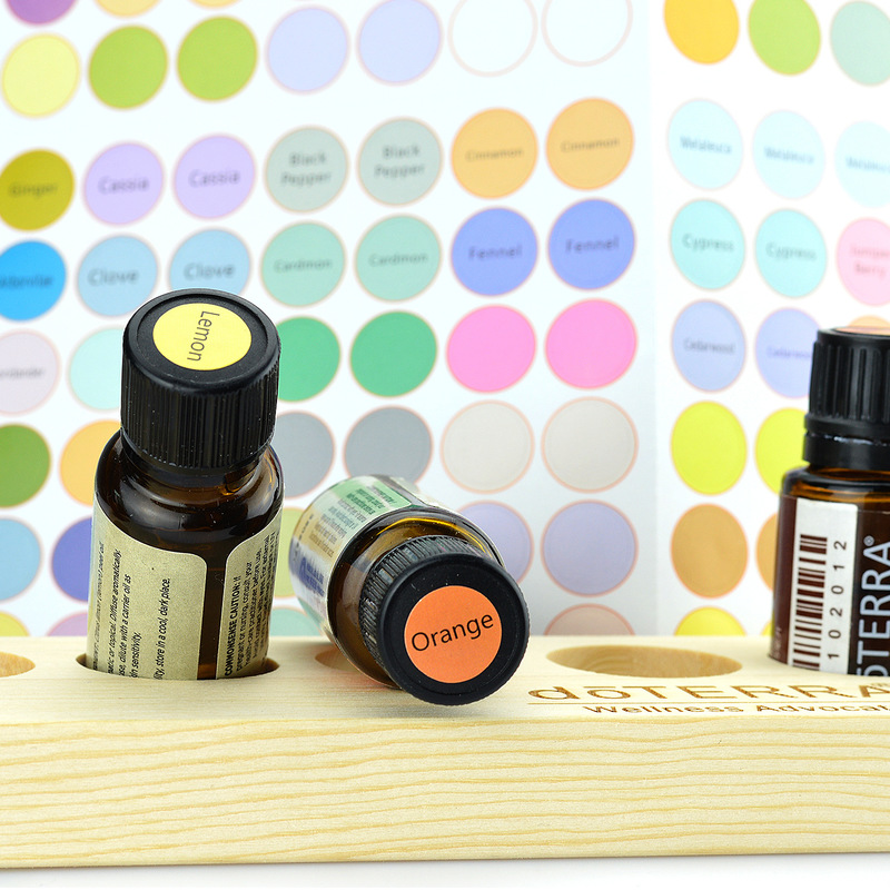 192pcs/Sheet Colorful Paper Stickers Labels For Glass Essential Oil Bottles Cap Lid Labels Blank Round Circles Sticker