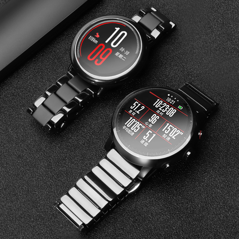 20mm 22mm Ceramic band For Amazfit Stratos 2/2S Replacement Strap For Samsung Galaxy watch 46/42mm/Samsun Gear s2 s3 Accessories