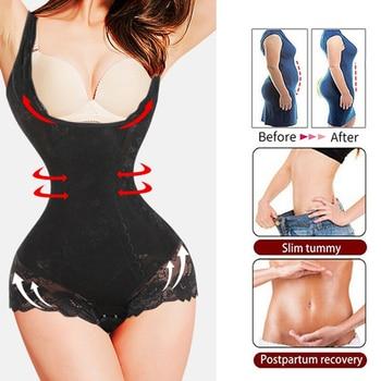 Women's Shapewear Bodysuit Full Body Shaper Waist Trainer Tummy Control Shapewear Seamless Open Bust Waist Shaping Body 1