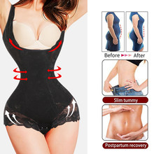 Women's Shapewear Bodysuit Full Body Shaper Waist Trainer Tummy Control Shapewear Seamless Open Bust Waist Shaping Body