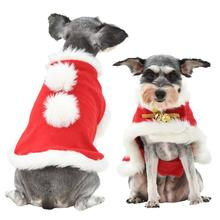 HobbyLane Xmas Pet Dog Christmas Costume Cloak Winter Warm Clothes Shawl for Parties