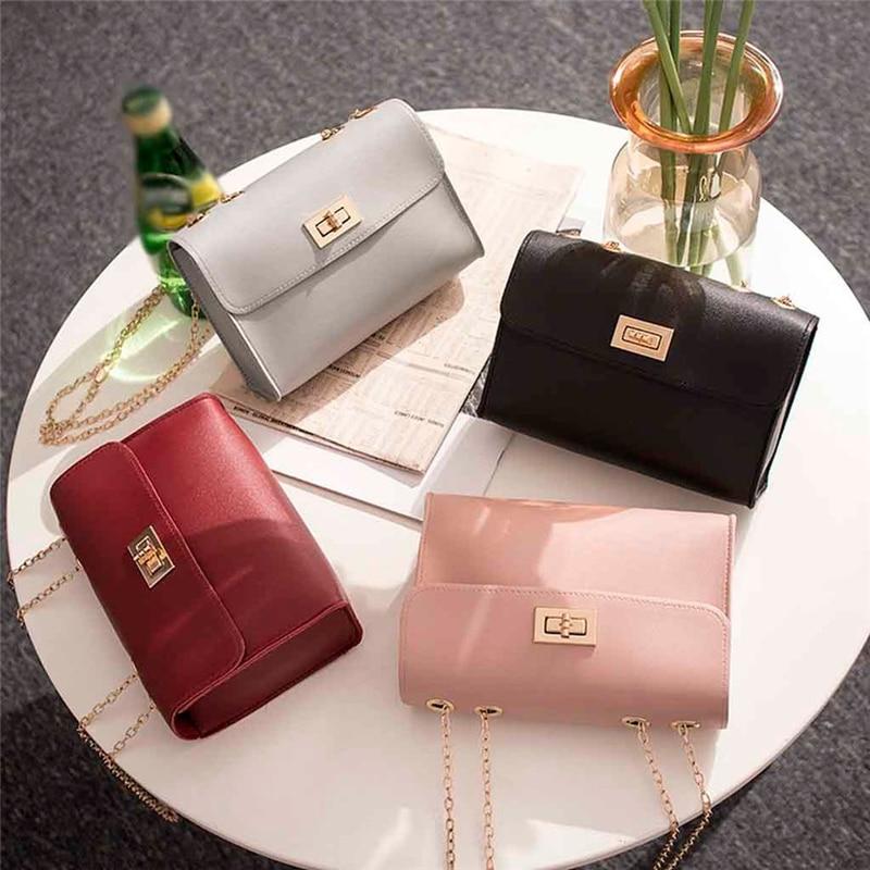 Fashion Simple Small Square Bag Women's Designer Handbag 2020 High-quality PU Leather Chain Mobile Phone Shoulder Bags
