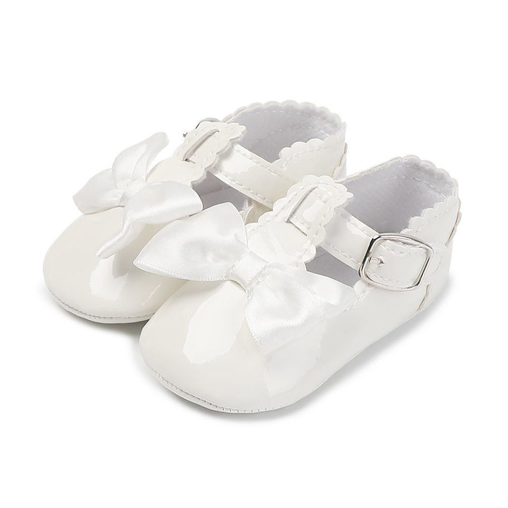 0-1 Years Old Patent Leather Soft Sole Baby Princess Girls Shoes Spring Fashion Shoes Kids Cute Casual Baby Anti-skid Shoes