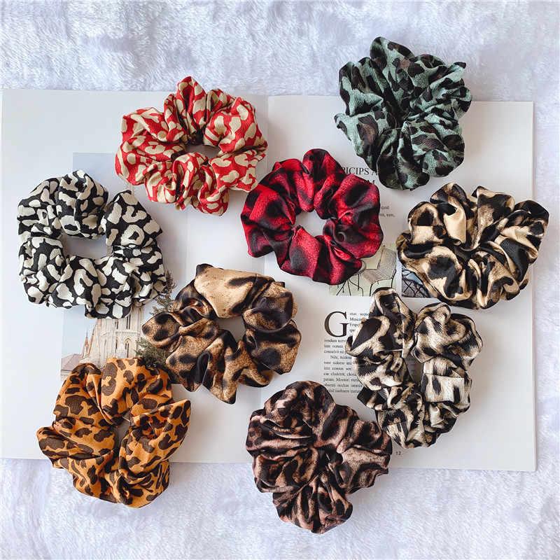 Ruoshui เสือดาวพิมพ์ Hair Ties สำหรับผมผู้หญิงอุปกรณ์เสริม Girls Scrunchies ผมเชือกสุภาพสตรีผู้ถือหางม้า