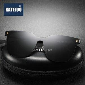 Image 2 - KATELUO 2020 klasyczne damskie ponadgabarytowe okulary spolaryzowane soczewki UV400 okulary dla kobiet okulary dla kierowców 8033