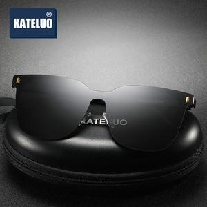 Image 2 - Kateluo 2020 Classic Vrouwen Oversized Zonnebril Gepolariseerde UV400 Lens Zonnebril Voor Vrouwen Glazen Voor Rijden 8033