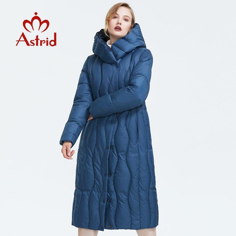 Kadın Giyim'ten Parkalar'de Astrid 2019 kış yeni varış şişme ceket kadınlar gevşek giyim giyim kaliteli mavi renk kalın pamuklu kış ceket AR 7051'da  Grup 2