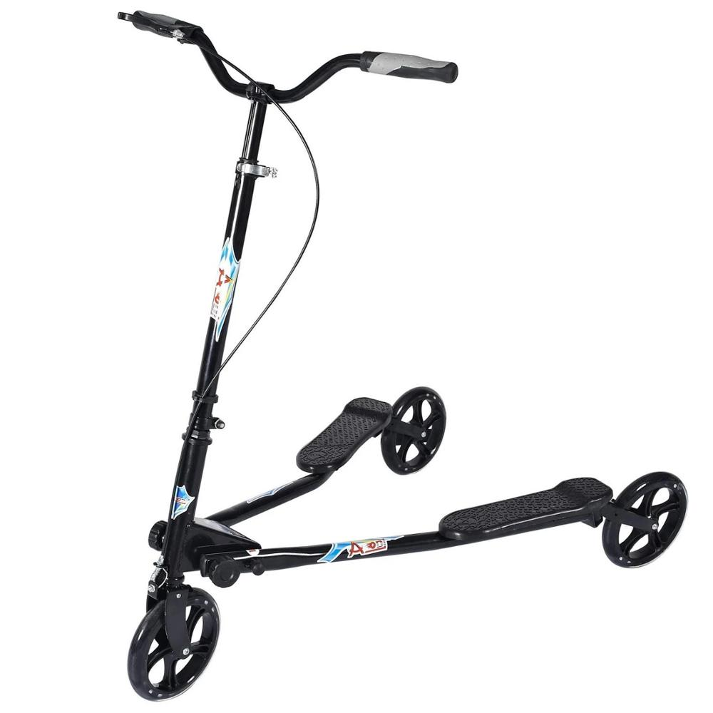Foldable Scooter Swing Push Drifting 3-Wheel Children/adult with Adjustable-Handle