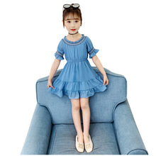 Summer Girls Dresses Girls Fashion Short Sleeve Chiffon Dress Kids Elegant Princess Dress Party Ball Pageant Dress Outfit autumn winter girls princess mini dress kids baby girls party wedding pageant long sleeve sweater dresses cute ball kids costume