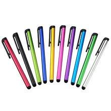 10 adet kapasitif Stylus dokunmatik ekran kalem IPhone için IPad için evrensel Tablet PC bilgisayar akıllı telefon kapasitif dokunmatik kalemler